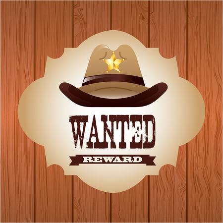 western usa: western banner design Illustration