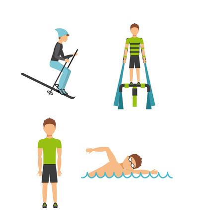 extreme sport design, vector illustration eps10 graphic Vector