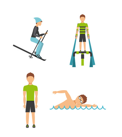 swiming: extreme sport design, vector illustration eps10 graphic