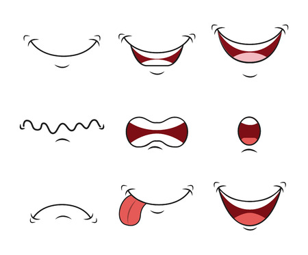 cartoon face design Illustration