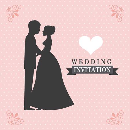 old wife: wedding invitation design