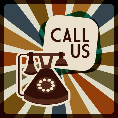 advertise with us: retro telephone design Illustration
