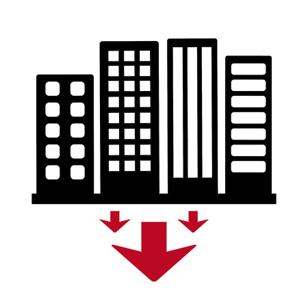 down town: city concept design, vector illustration eps10 graphic