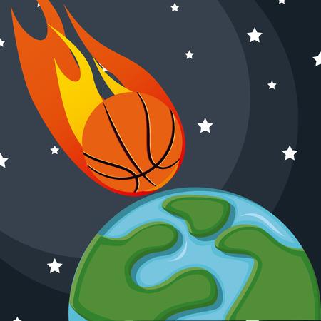 balon de basketball: diseño de deporte de baloncesto, ilustración vectorial gráfico