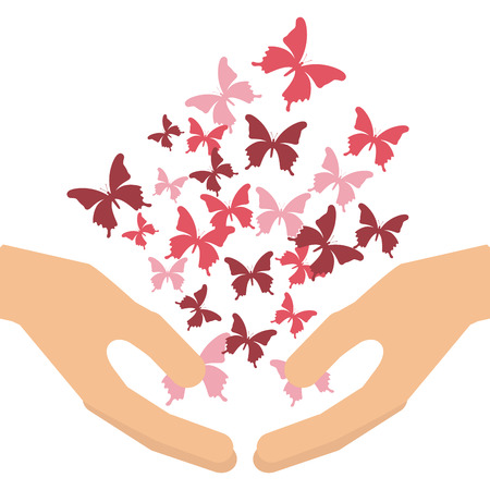 mariposas volando: mariposas vuelan dise�o, ilustraci�n vectorial gr�fico