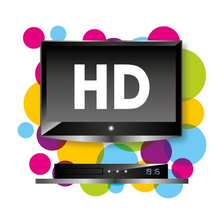 fullhd: tv full hd design, vector illustration graphic Illustration