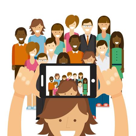 写真 selfie デザイン、ベクトル イラストレーション グラフィック  イラスト・ベクター素材
