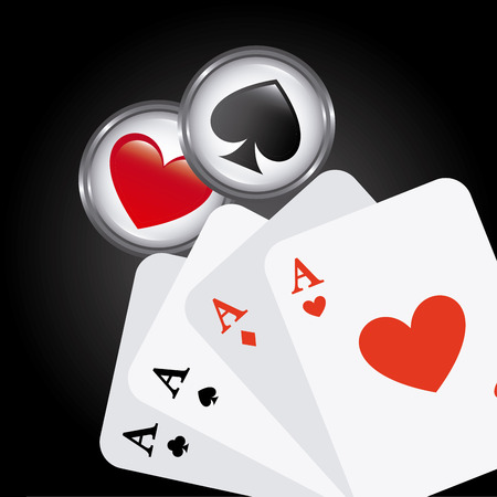 casino game design, vector illustration graphic Vector