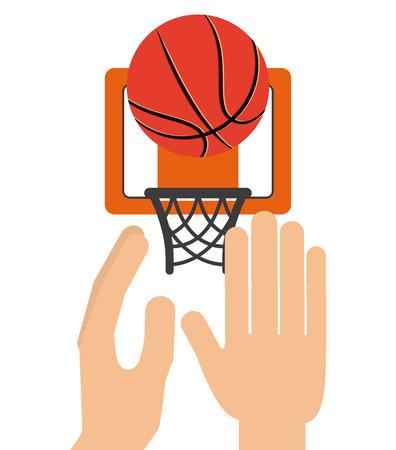 balon baloncesto: diseño de deporte de baloncesto, ilustración vectorial gráfico