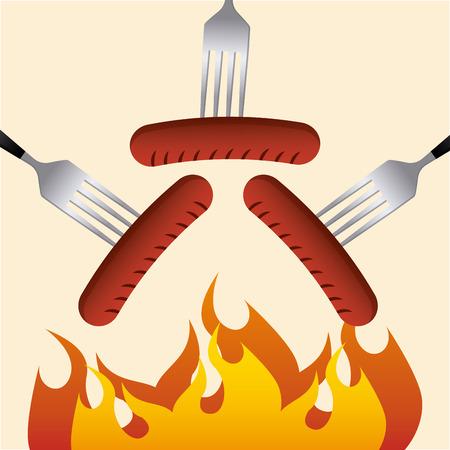 delicious barbecue design, vector illustration   graphic Vector