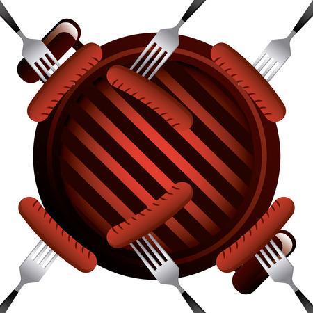 delicious barbecue design, vector illustration  graphic Illustration