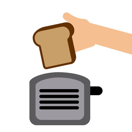 toasted: toast bread design, vector illustration  graphic