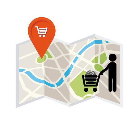 retail place: market  location design, vector illustration  graphic