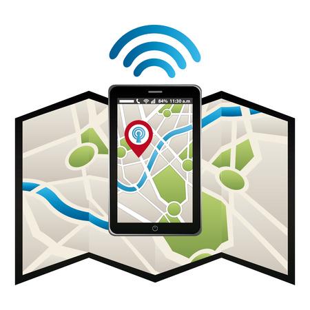 antena: wifi service design, vector illustration  graphic