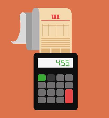 millionaire: Taxes design over orange background, vector illustration. Illustration