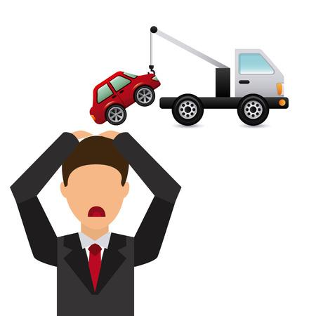 parking car: city traffic design, vector illustration graphic