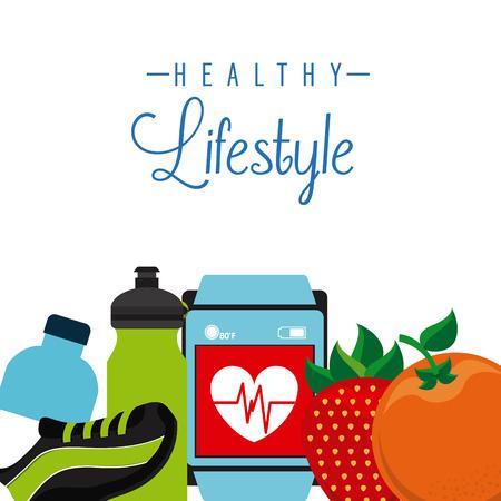 健康的なライフ スタイルのデザイン、ベクトル イラストレーション グラフィック