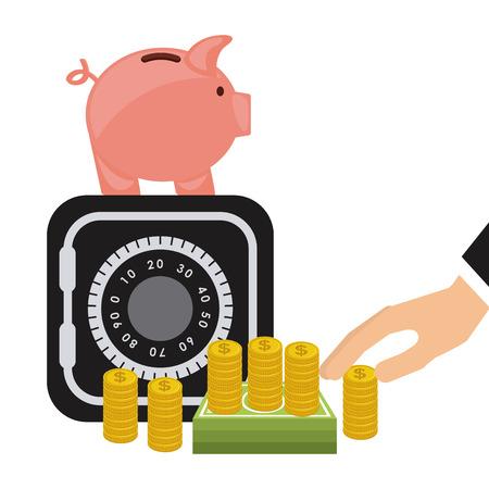guard box: money concept design, vector illustration graphic Illustration