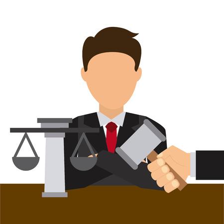 justice hammer: justice concept design, vector illustration graphic