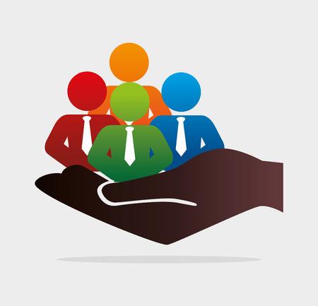 Ontwerp Human resources op een witte achtergrond, vector illustratie.
