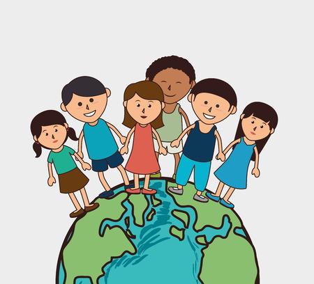 Kids design over white background, vector illustration. Ilustracja