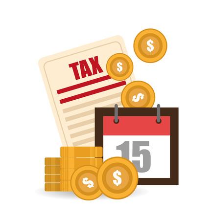 million: Taxes design over white background, vector illustration.