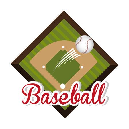 baseball field: Baseball design over white background, vector illustration.