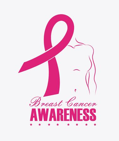 Cancer design over white background, vector illustration.