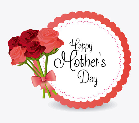 mothers day: Happy mothers day card design, vector illustration.
