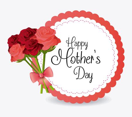 de la madre: Madres felices de dise�o Tarjeta del d�a, ilustraci�n vectorial. Vectores