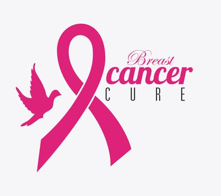 breast animal: Cancer design over white background, vector illustration.