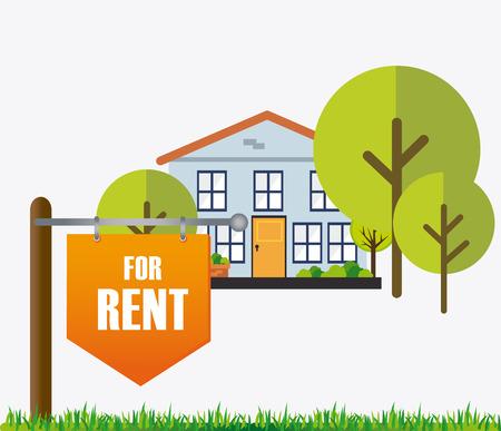 singpost: Real estate design over white background, vector illustration.