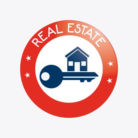 Real estate design over white background, vector illustration. Vector