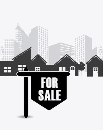 Real estate design over white background, vector illustration.