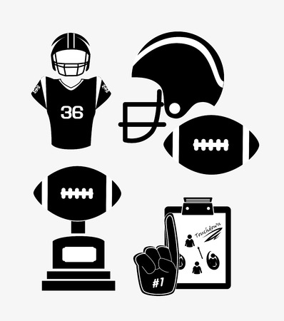 football game: Sports design over white background, vector illustration.