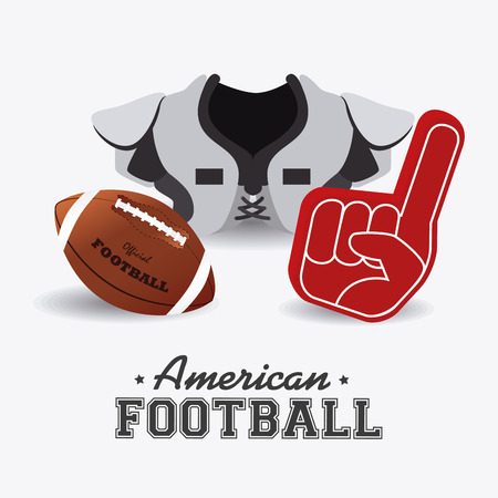 athletic wear: Sports design over white background, vector illustration.