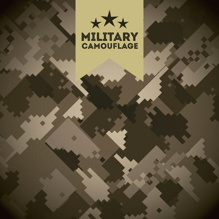 military uniform: military camouflage design, vector illustration eps10 graphic Illustration