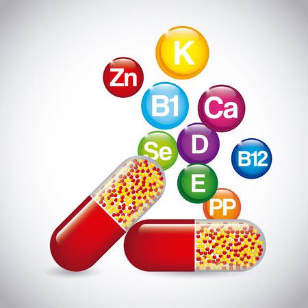 nutrition supplements design, vector illustration eps10 graphic