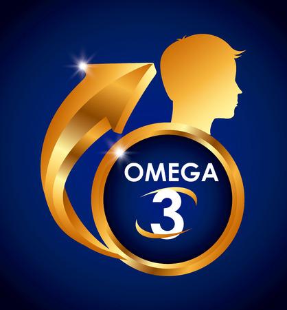 omega 3 design, vector illustration eps10 graphic