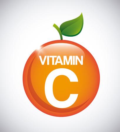 Conception de la vitamine C, illustration graphique eps10 Banque d'images - 38656067