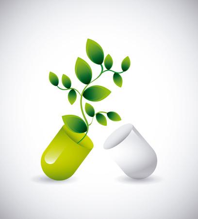 capsule: capsule vitamin design, vector illustration eps10 graphic Illustration