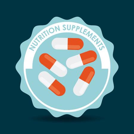 supplements: nutrition supplements design, vector illustration eps10 graphic