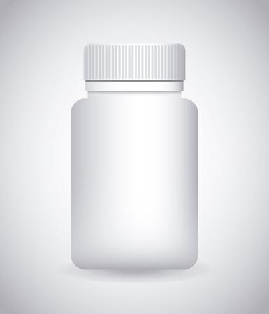 packaging industry: bottle drugs design, vector illustration eps10 graphic