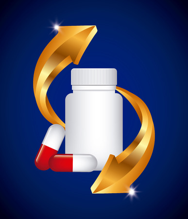 doses: capsule vitamin design, vector illustration eps10 graphic Illustration