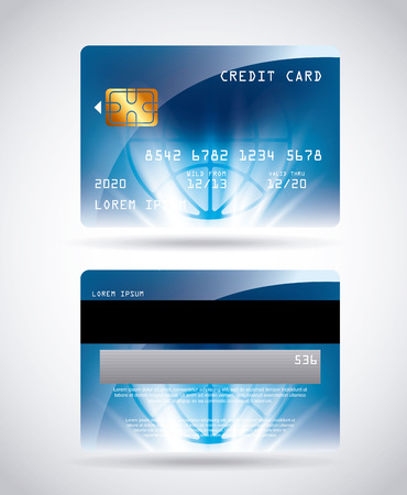 credit card design, vector illustration eps10 graphic