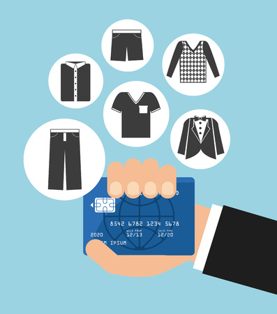 shoppings: credit card design, vector illustration eps10 graphic