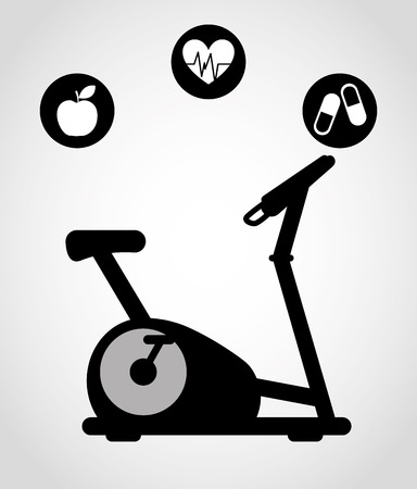 static bike: fitness sport design, vector illustration eps10 graphic