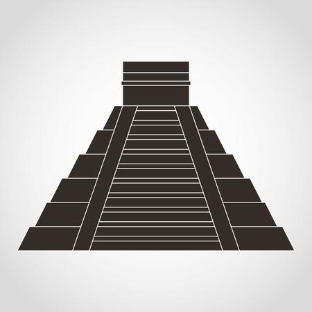 itza: piramid mexican design, vector illustration eps10 graphic
