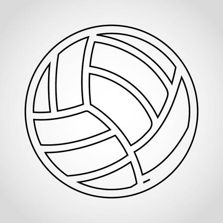 balon voleibol: deporte icono del diseño, ilustración vectorial gráfico eps10