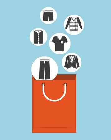 shoping bag: bag shopping design, vector illustration eps10 graphic Illustration